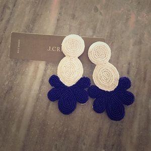 J. Crew beaded statement earrings (posts)